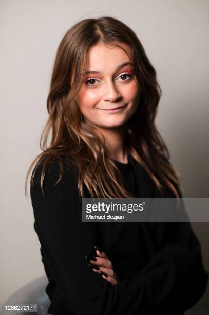 Sophie Fergi poses for portrait at The Artists Project Hosts Portraits For The Premiere of Timecrafters on November 17 2020 in Los Angeles California