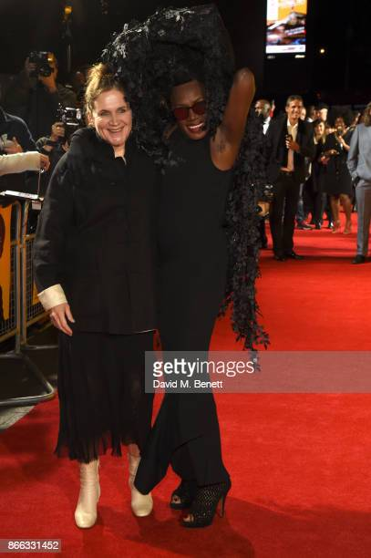 Sophie Fiennes and Grace Jones attend the UK Premiere of 'Grace Jones Bloodlight And Bami' at the BFI Southbank on October 25 2017 in London England