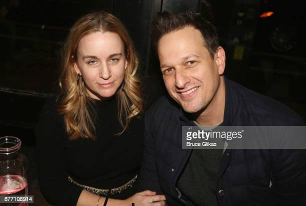 Sophie Flack and husband Josh Charles pose at the Opening Night party for Lincoln Center Theater's 'The Wolves' at PJ Clarke's on November 20 2017 in...