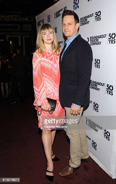 Sophie Flack and Josh Charles attend 'Holiday Inn' broadway opening night at Studio 54 on October 6 2016 in New York City
