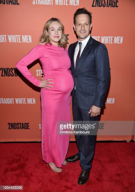 "Sophie Flack and Josh Charles attend the after party for ""Straight White Men"" Broadway Opening Night at DaDong on July 23, 2018 in New York City."