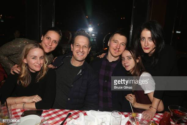 Sophie Flack guest Josh Charles Paul Dano Zoe Kazan and director Lila Neugebauer pose at the Opening Night party for Lincoln Center Theater's 'The...