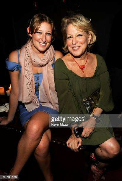 Sophie Frederica Alohilani von Haselberg and Bette Midler attend the after party for the Cinema Society Screening of The Women at Lowe's 19th Street...