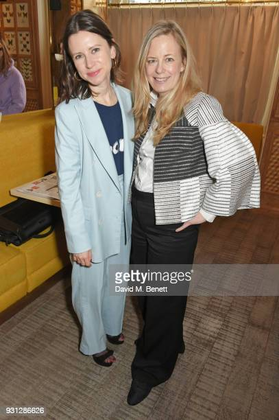 Sophie Goodwin and Astrid Harbord attend the Espie Roche launch breakfast at The Chess Club on March 13 2018 in London England