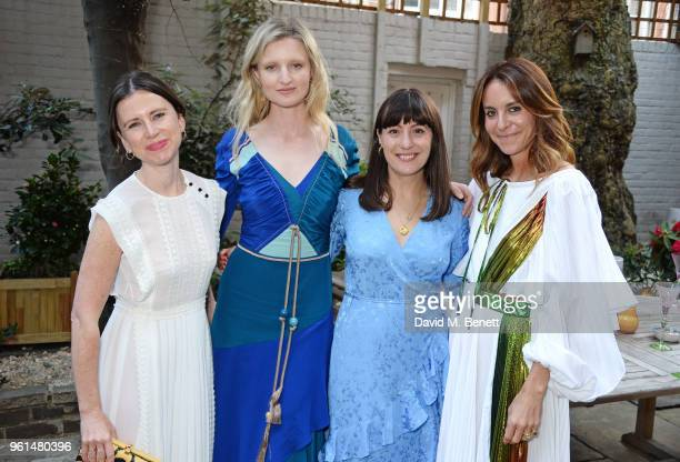 Sophie Goodwin Candice Lake Katherine Ormerod and Alison Loehnis attend the NETAPORTER dinner hosted by Alison Loehnis to celebrate the launch of...