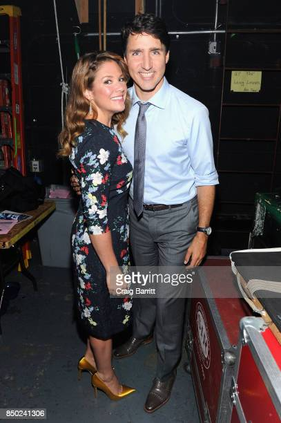 Sophie Gregoire and Canadian Prime Minister Justin Trudeau attend the WE Day UN at The Theater at Madison Square Garden on September 20, 2017 in New...