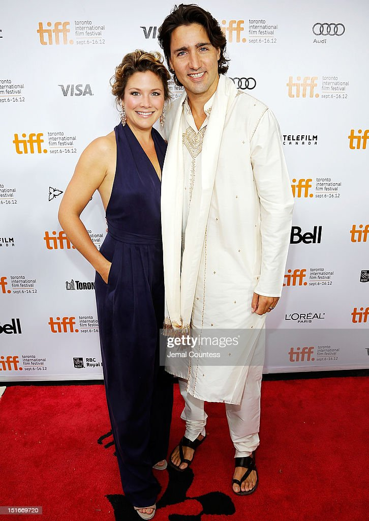 Sophie Gregoire and Justin Trudeau arrive at the 'Midnight's Children' Premiere at the 2012 Toronto International Film Festival at Roy Thomson Hall on September 9, 2012 in Toronto, Canada.