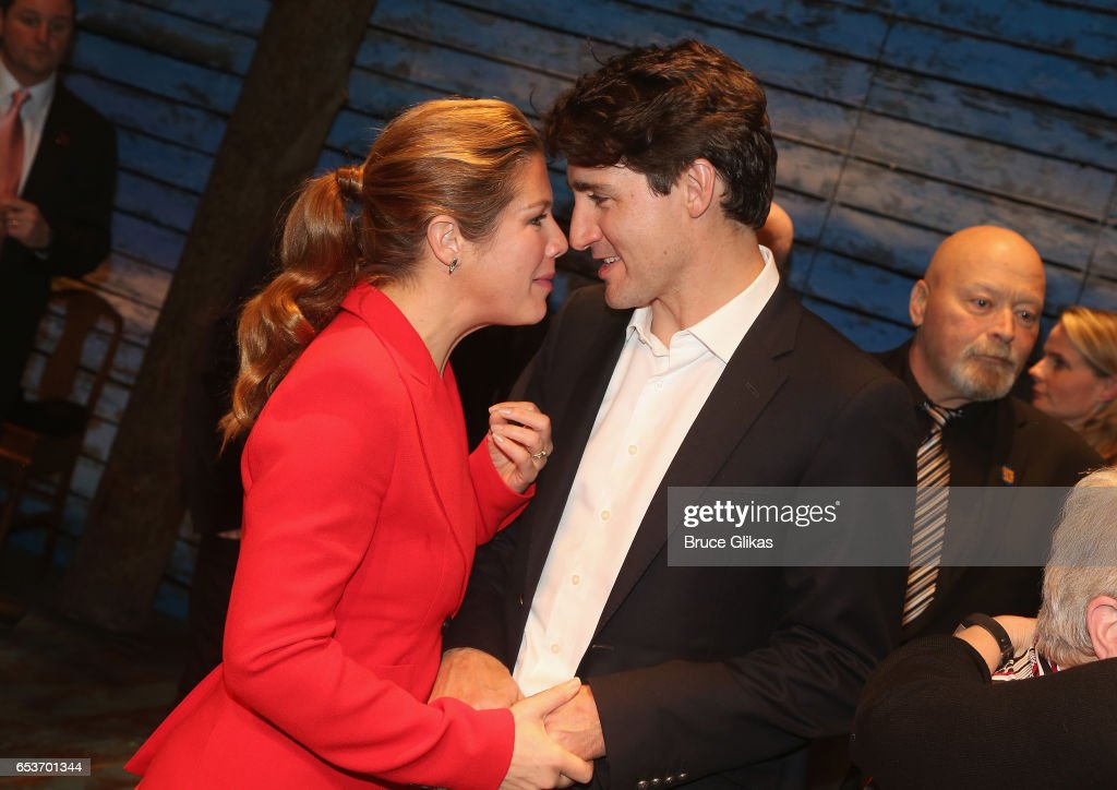 Canadian Prime Minister Justin Trudeau Visits Broadway : News Photo