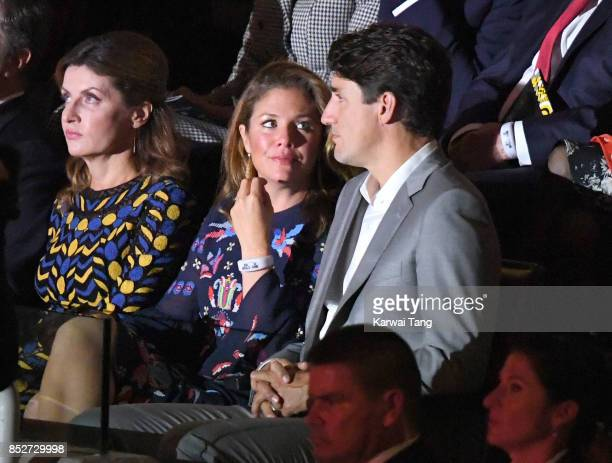 Sophie Gregoire Trudeau and Justin Trudeau attend the Opening Ceremony of the Invictus Games Toronto 2017 at the Air Canada Arena on September 23...