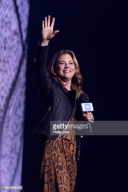 Sophie Gregoire Trudeau speaks at WE Day Vancouver at Rogers Arena on November 22 2018 in Vancouver Canada