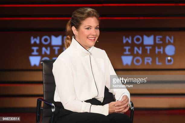 Sophie Gregoire Trudeau speaks onstage at the 2018 Women In The World Summit at Lincoln Center on April 14, 2018 in New York City.