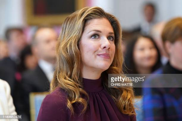 Sophie Gregoire Trudeau wife of Canadian Prime Minister Justin Trudeau attends a cabinet swearingin ceremony at Rideau Hall on November 20 2019 in...