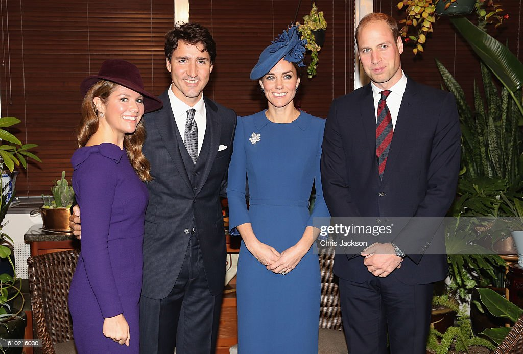 Sophie Gregoire-Trudeau, Canadian Prime Minister Justin Trudeau, Catherine, Duchess of Cambridge and Prince William, Duke of Cambridge attend a meeting of senior Canadian Leaders at Governement House on September 24, 2016 in Victoria, Canada. Prince William, Duke of Cambridge, Catherine, Duchess of Cambridge, Prince George and Princess Charlotte are visiting Canada as part of an eight day visit to the country taking in areas such as Bella Bella, Whitehorse and Kelowna.