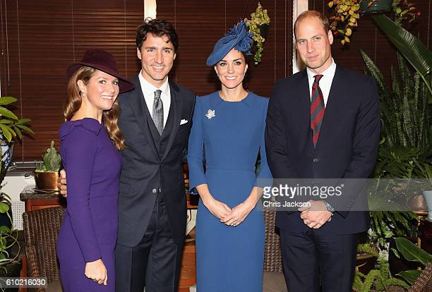 Sophie Gregoire-Trudeau, Canadian Prime Minister Justin Trudeau, Catherine, Duchess of Cambridge and Prince William, Duke of Cambridge attend a...