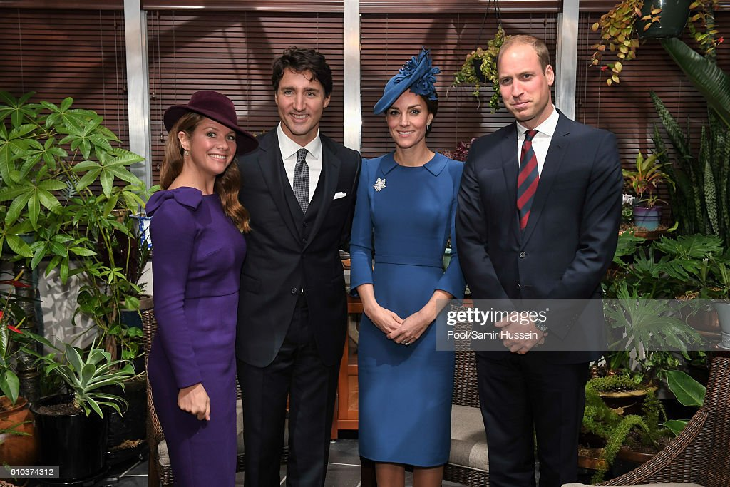 Sophie Gregoire-Trudeau, Prime Minister Justin Trudeau, Catherine, Duchess of Cambridge and Prince William, Duke of Cambridge on September 24, 2016 in Victoria, Canada.