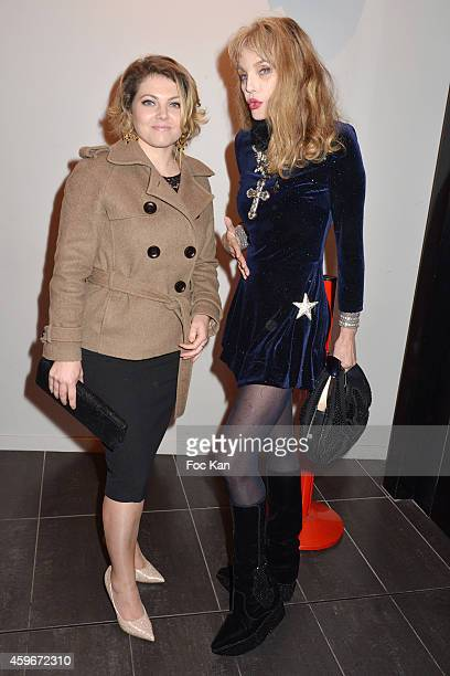 Sophie Guillemin and Arielle Dombasle attend the 'Soiree Arielle Dombasle' At Cheries Cheris LGBT 20th Festival At MK2 Bibliotheque on November 27