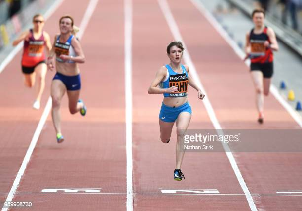 Sophie Hahn of Great Britain and Northern Ireland wins the women's 150 metres T37/38 race during the Great City Games on May 18 2018 in Manchester...