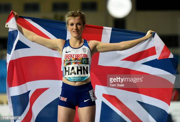 Sophie Hahn of Great Britain celebrates after winning the Women's 200m T38 final race on Day Seven of the IPC World Para Athletics Championships 2019...