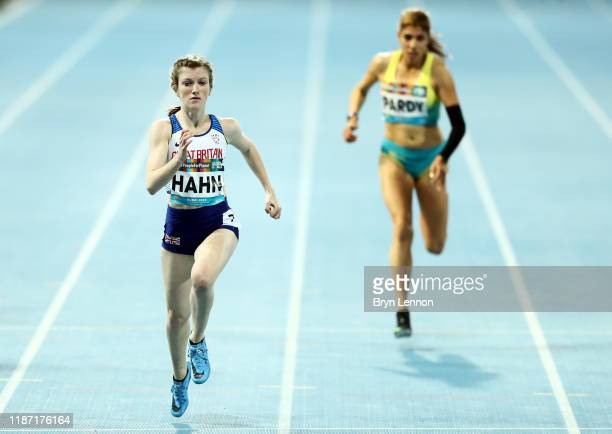 Sophie Hahn of Great Britain crosses the finish line to win the Women's 100m T38 final during Day Six of the IPC World Para Athletics Championships...