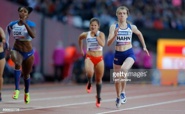 Sophie Hahn of Great Britain on her way to winning gold in the women's 100m T38 final during the World Para Athletics Championships 2017 at the...