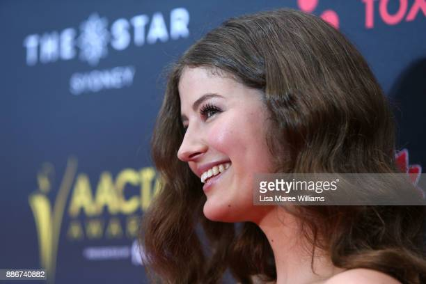 Sophie Hawkshaw attends the 7th AACTA Awards Presented by Foxtel | Ceremony at The Star on December 6 2017 in Sydney Australia