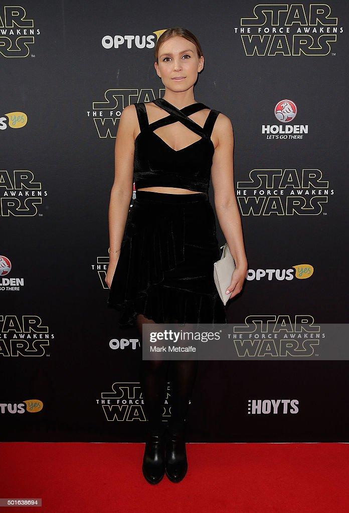 Sophie Hensser arrives ahead of the 'Star Wars: The Force Awakens' Australian premiere on December 16, 2015 in Sydney, Australia.