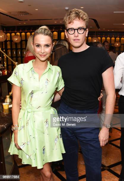 Sophie Hermann and Fletcher Cowan attend the TWG Tea Gala Event in Leicester Square to celebrate the launch of TWG Tea in the UK on July 2 2018 in...