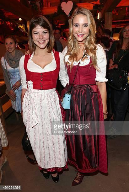 Sophie Hermann and her stepsister Julia Tewaag daughter of Uschi Glas during the Oktoberfest 2015 at Kaeferschaenke at Theresienwiese on Oktober 02...