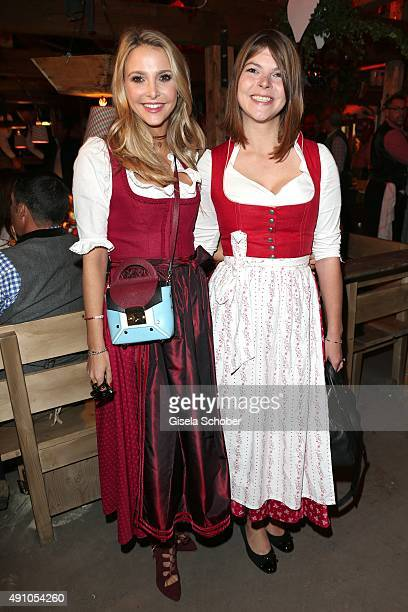 Sophie Hermann and her stepsister Julia Tewaag during the Oktoberfest 2015 at Kaeferschaenke at Theresienwiese on Oktober 02 2015 in Munich Germany