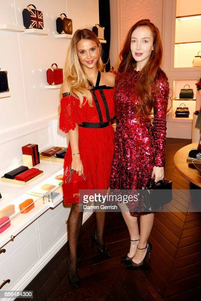 Sophie Hermann and Olivia Grant attend the new flagship store launch of Aspinal on Regent's Street St James's on December 5 2017 in London England