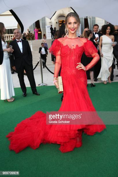 Sophie Hermann attends the cocktail at the amfAR Gala Cannes 2018 at Hotel du CapEdenRoc on May 17 2018 in Cap d'Antibes France