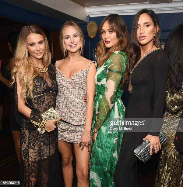 Sophie Hermann, Kimberley Garner, Isabelle Koenig and Lily Fortescue attend the The BARDOU Foundation's International Day Of The Girl Gala in support...