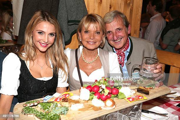 Sophie Hermann stepdaughter of Uschi Glas and Uschi Glas and her husband Dieter Hermann father of Sophie during the Oktoberfest 2015 at...