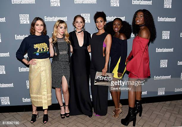 Sophie Hopkins Hannah Marksm Fiona Dourif Pearl Mackie Jade Eshete and Vivan Oparah attend EW Hosts An Evening With BBC America on October 6 2016 in...