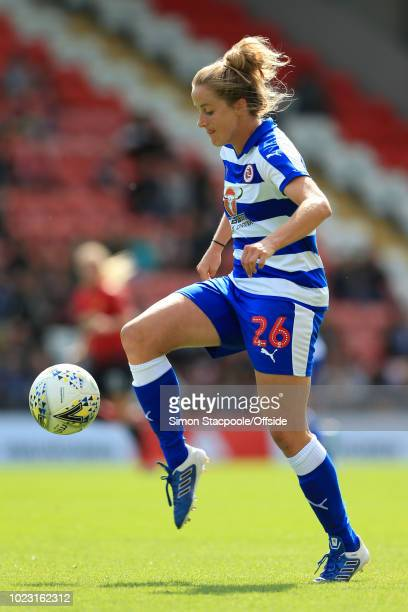 Sophie Howard of Reading in action during the FA WSL Continental Tyres Cup match between Manchester United Women and Reading Women at Leigh Sports...