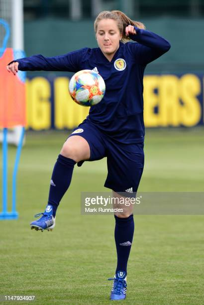 Sophie Howard of Scotland in action during the Scotland Women's National Team Training Session at Oriam Scotland on June 4 2019 in Glasgow Scotland