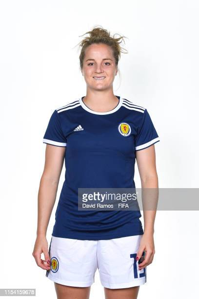 Sophie Howard of Scotland poses for a portrait during the official FIFA Women's World Cup 2019 portrait session at AC Hotel by Marriott Nice on June...
