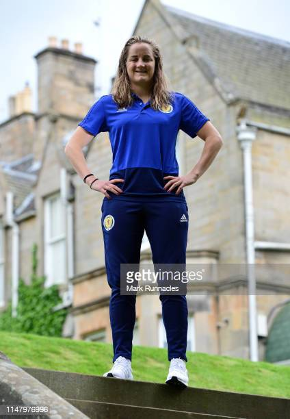 Sophie Howard of Scotland poses in the grounds of the Norton House Hotel after the Scotland Women's National Team Training Session at Oriam Scotland...