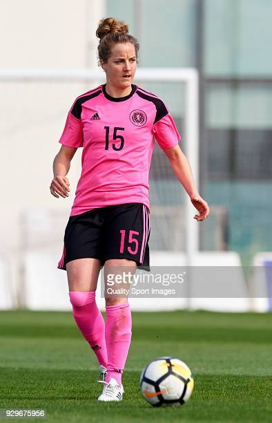 Sophie Howard of Scotland runs with the ball during the international friendly match between New Zealand Women and Scotland Women at Pinatar Arena on...