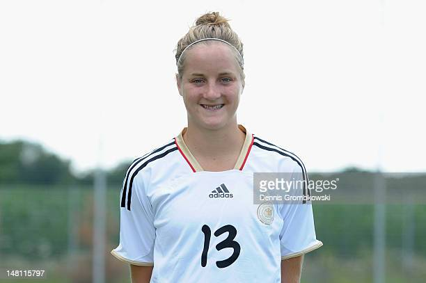 Sophie Howard poses during the Women's U20 Germany photocall on July 10 2012 in Heusenstamm Germany