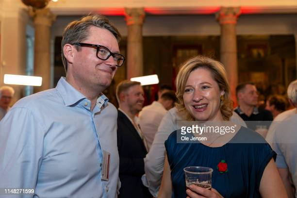 Sophie Hæstorp Andersen chair for The Capital Region and member of the SOCIAL Democratic Party during the general election evening at Christiansborg...