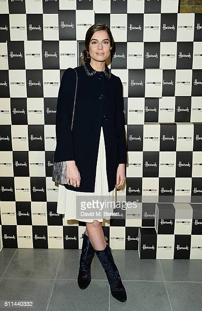 Sophie Hulme attends the Serpentine Future Contemporaries x Harrods Party 2016 at The Serpentine Sackler Gallery on February 20 2016 in London England