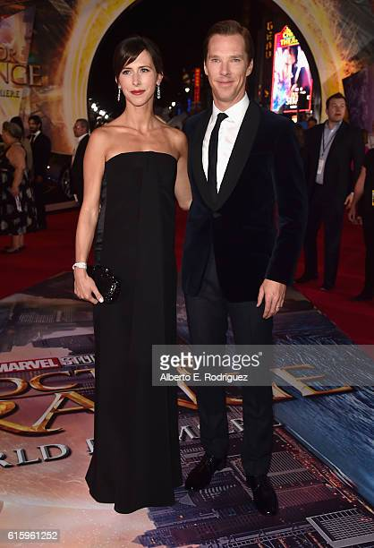 "Sophie Hunter and actor Benedict Cumberbatch attend The Los Angeles World Premiere of Marvel Studios' Doctor Strange"" in Hollywood CA on Oct 20th 2016"