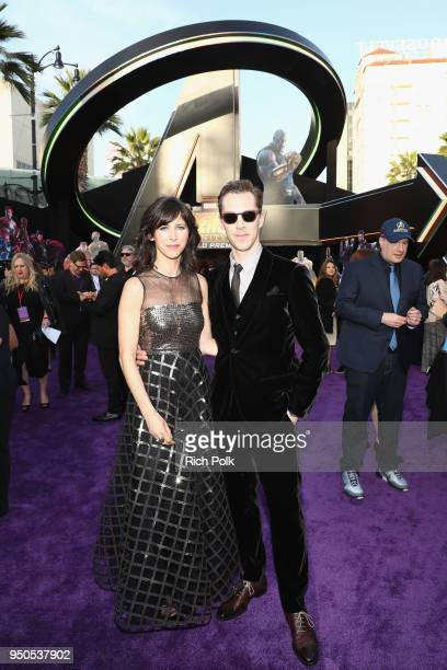 Sophie Hunter and actor Benedict Cumberbatch attend the Los Angeles Global Premiere for Marvel Studios' Avengers Infinity War on April 23 2018 in...