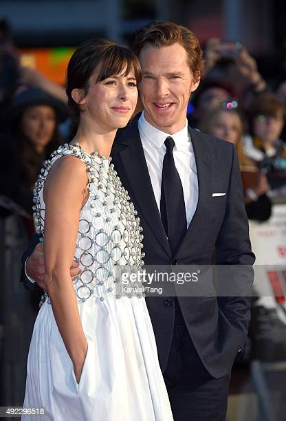 """Sophie Hunter and Benedict Cumberbatch attend a screening of """"Black Mass"""" during the BFI London Film Festival at Odeon Leicester Square on October..."""