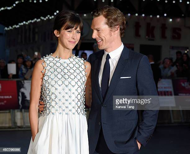 Sophie Hunter and Benedict Cumberbatch attend a screening of Black Mass during the BFI London Film Festival at Odeon Leicester Square on October 11...