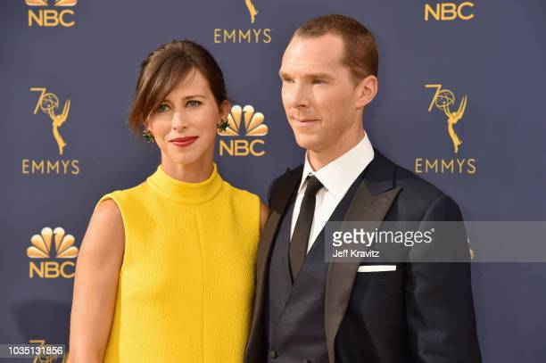 Sophie Hunter and Benedict Cumberbatch attend attends the 70th Emmy Awards at Microsoft Theater on September 17 2018 in Los Angeles California