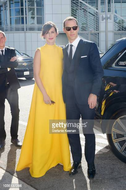 Sophie Hunter and Benedict Cumberbatch attend Audi at the 70th Annual Emmy Awards at Microsoft Theater on September 17 2018 in Los Angeles California