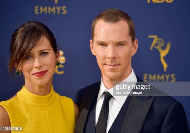 Sophie Hunter and Benedict Cumberbatch attend the 70th Emmy Awards at Microsoft Theater on September 17, 2018 in Los Angeles, California.