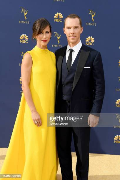 Sophie Hunter and Benedict Cumberbatch attend the 70th Emmy Awards at Microsoft Theater on September 17 2018 in Los Angeles California